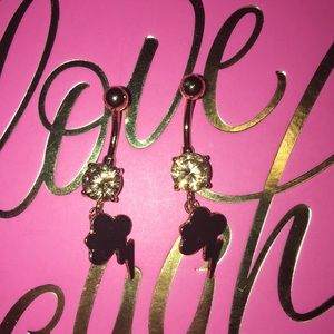 New Bundle two gold lightening bolt belly rings